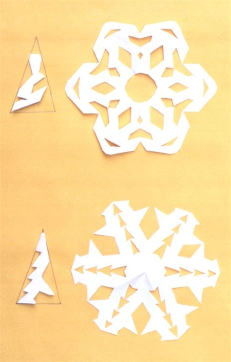 Make A Snowflake Paper - below is a diagram of the five steps to make a paper