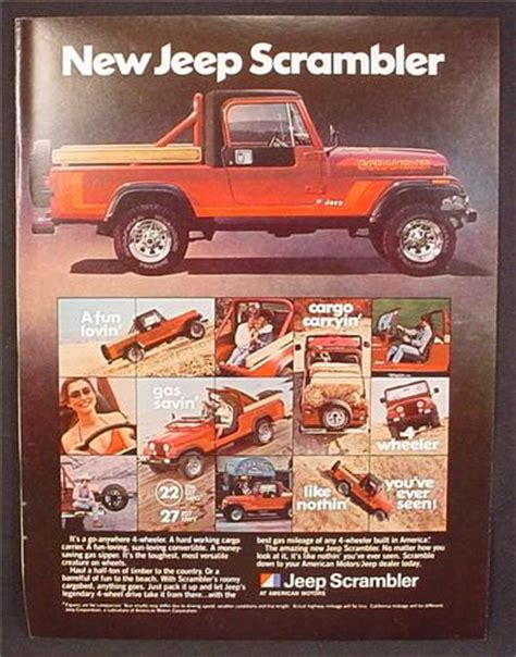 Jeep Magazines Magazine Ad For Jeep Scrambler Truck Side View 1981