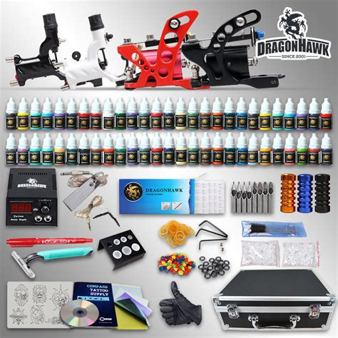 tattoo kit wish professional complete tattoo kit 4 top rotary machine gun