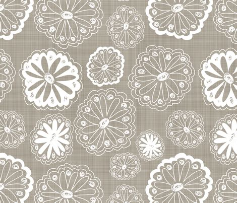 flower doodle fabric flower doodles fabric by dianef on spoonflower custom