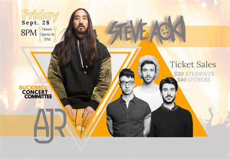 steve aoki opening act fall concert 2018 steve aoki featuring ajr the bucknellian