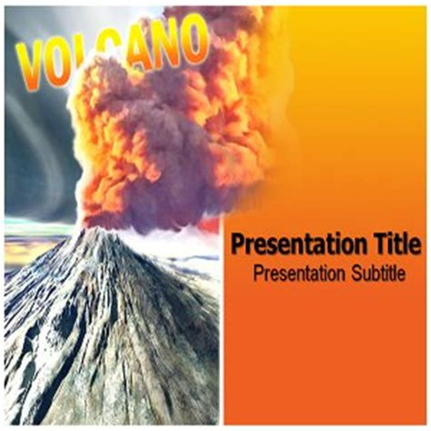 Amazon Com Volcano Powerpoint Templates Volcano Ppt Powerpoint Background Software Volcano Powerpoint Template