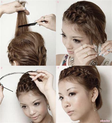tutorial rambut panjang lurus kuncir rambut ala korea cara mengikat rambut panjang