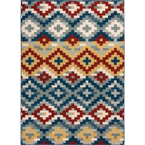 well woven sydney vintage sheffield blue 3 ft well woven sydney azteca works blue 5 ft 3 in x 7 ft 3 in southwestern area rug 20225 the