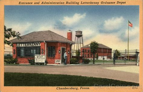 Post Office Chambersburg Pa by Entrance And Administration Building Letterkenny Ordnance
