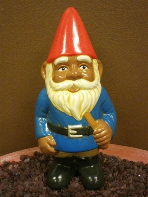 hand painted african american garden gnome