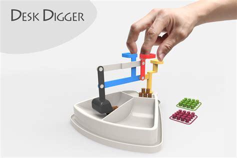 Desk Digger by Desk Digger Stl Step Iges Solidworks 3d Cad Model