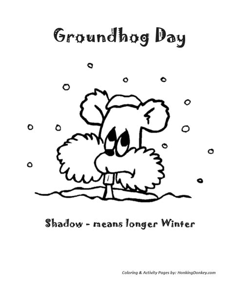 groundhog day viewing worksheet happy groundhog day page coloring pages