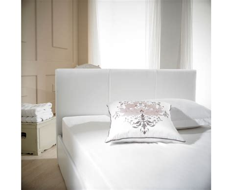 White Ottoman King Size Bed Madrid White Faux Leather Ottoman King Size Bed The Great Furniture Trading Company