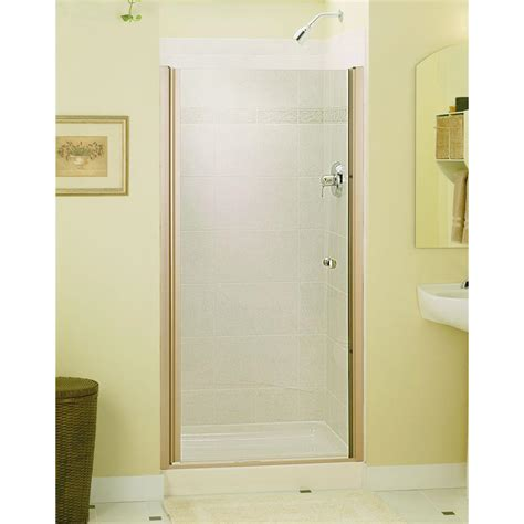 Frameless Pivot Bathtub Door by Sterling Finesse 34 In X 65 1 2 In Semi Frameless Pivot