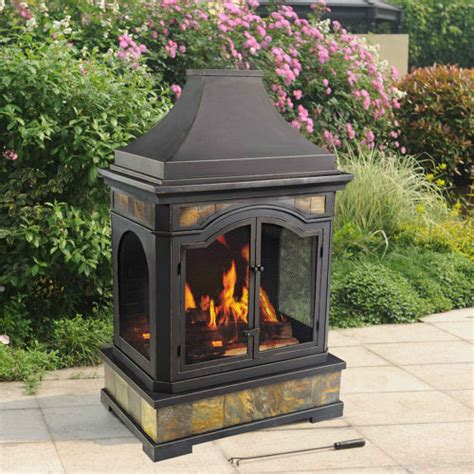 outdoor fireplace wood burning outdoor furniture design