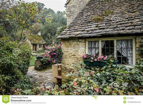 Cottages Plans by Arlington Row Cottages Bibury Cotswolds England Stock