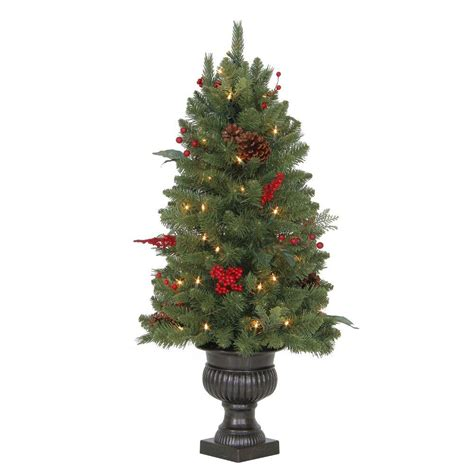 3 foot christmas tree with lights martha stewart living 3 ft winslow fir potted artificial