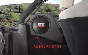 Subwoofer For Jeep Wrangler Jeep Wrangler Jk 2007 2016 Thunderform Custom Subwoofer