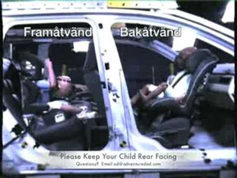 car seat cocooning in crash crash test forward vs rear facing