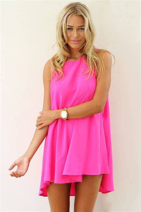 Khloe Kardashian Home Interior by Pink Mini Dress Pink Sleeveless A Line Dress With Ustrendy