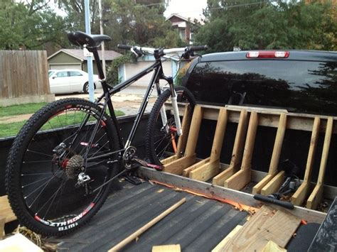 truck bed bike rack diy brand new build diy pinterest truck bed