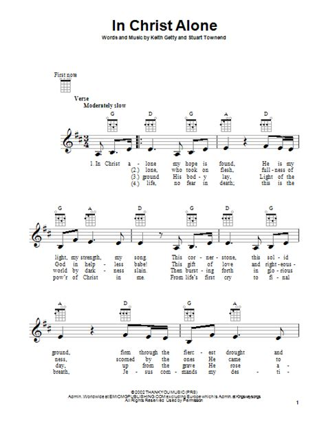 printable lyrics in christ alone in christ alone sheet music direct