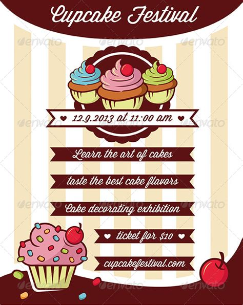 cake flyer template free stackerx info