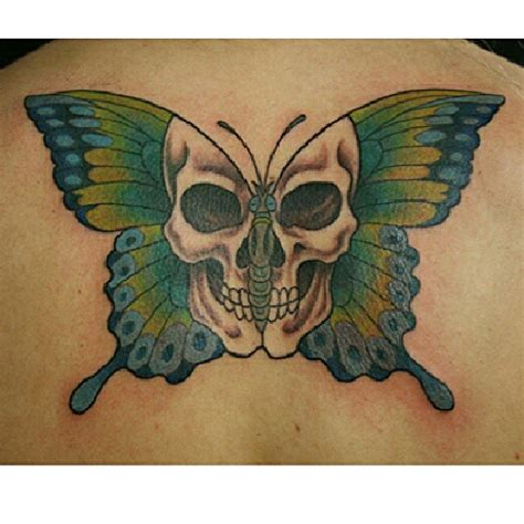 butterfly skull tattoos skull butterfly tattoos
