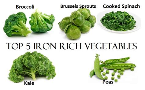 5 vegetables in top 5 iron rich vegetables