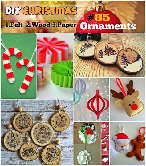 diy felt ornaments diy ornaments 35 felt wood paper