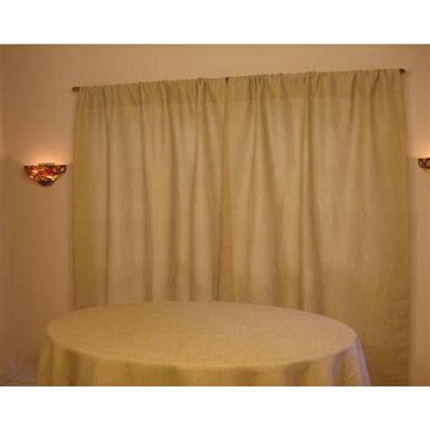 62 inch curtains havana faux drape 120 x 62 inches burlap boutique