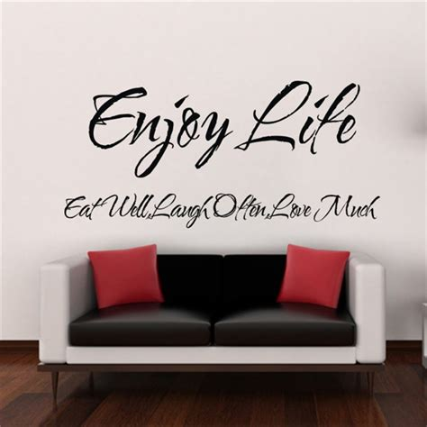 inspirational home decor enjoy life inspirational vinyl quote home decor blackboard