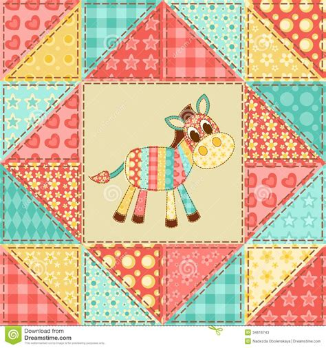 Zebra Patchwork Quilt - zebra quilt pattern stock photos image 34616743