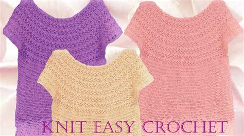 Aprende A Tejer Blusas A Crochet Paso A Paso Learn Knit Easy Crochet | aprende a tejer blusas a crochet paso a paso learn knit
