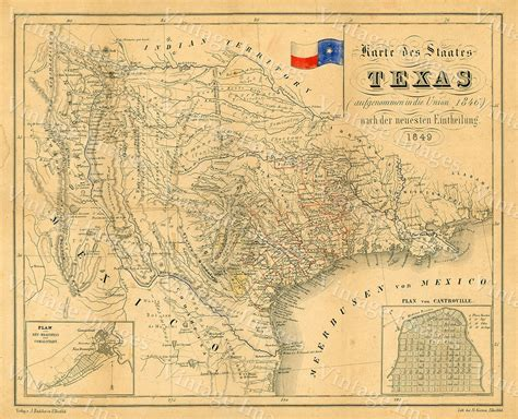 antique texas map texas map vintage