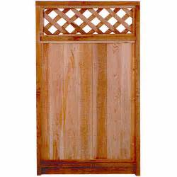 fence gate with lattice top rona