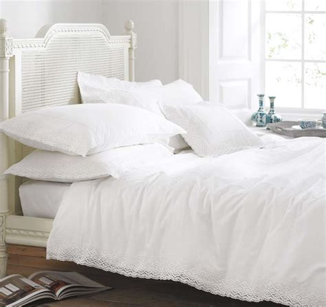 vintage lace white cotton luxury bedding bed linen ebay