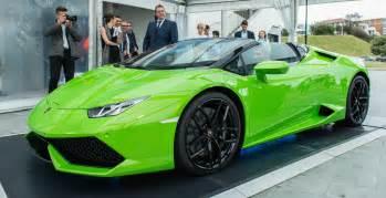 How Much Does A Lamborghini Cost In Australia Lamborghini Huracan Lp610 4 Spyder Debuts In Australia