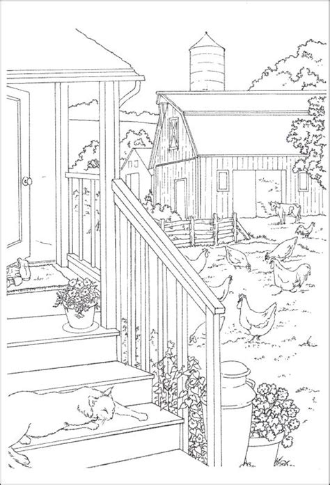 country landscape coloring page landscape farm scene coloring book coloring pages
