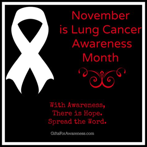 lung cancer awareness month wear your ribbon november is lung cancer awareness month