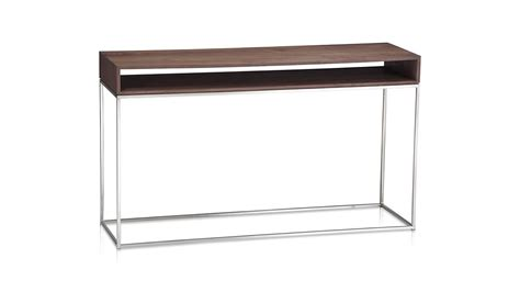 sofa table crate and barrel frame console table crate and barrel