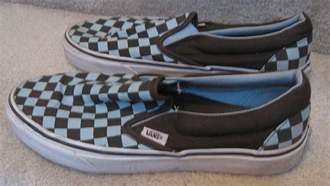 mens patterned vans vans mens checker pattern slip on shoes size 9 great shape
