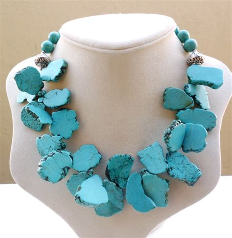 turquoise stone necklace gemstone jewellery big skies jewellery