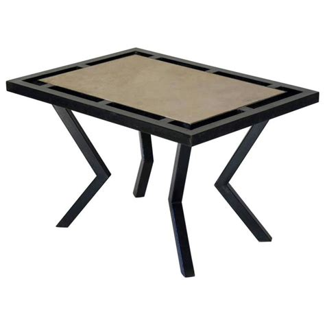 Zig Zag Coffee Table Quot Zig Zag Quot Iron And Coffee Table Circa 1960s For Sale At 1stdibs