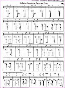 saxophone fingering chart cvsampleform com