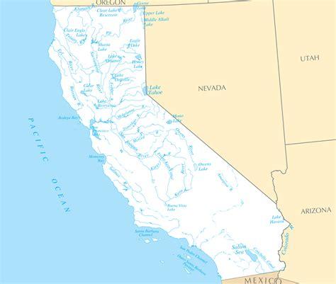 california map lakes lakes in california map california map