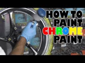 Can You Spray Paint Car Rims - how to paint chrome paint youtube