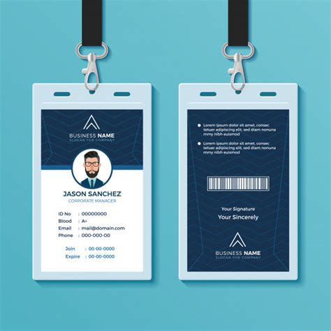 exclusive id card design plantilla de dise 241 o de tarjeta de identificaci 243 n moderna y