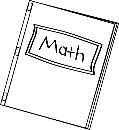 math clipart black and white black and white math book clip black and white math