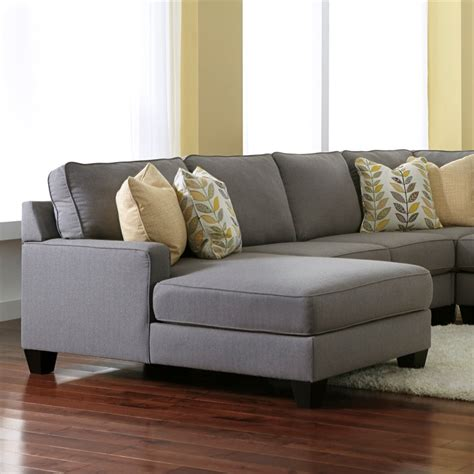 ashley chamberly left arm facing corner chaise  alloy