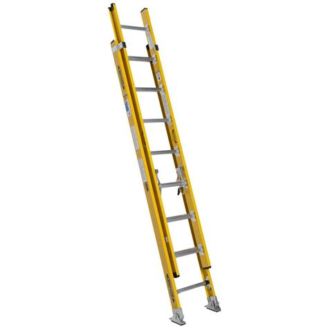 werner 16 ft fiberglass rung extension ladder with