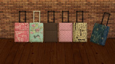 Sims 2 Rugs Leo Sims Travel Luggage Deco Converted From Sims 2 Mesh