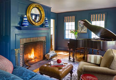 century federal farmhouse library traditional
