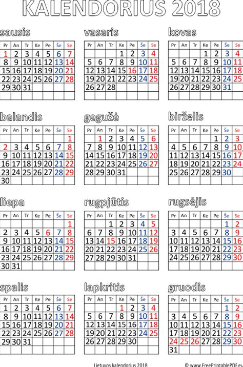 Slovakia Fastis 2018 Kalendorius 2018 Su Savaitemis 28 Images 2017 M Darbo